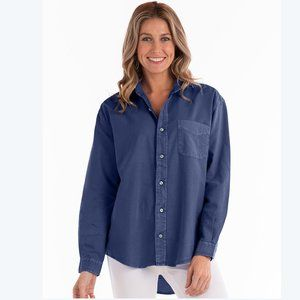FRESH PRODUCE 1X navy OXFORD SHIRT NWT cotton